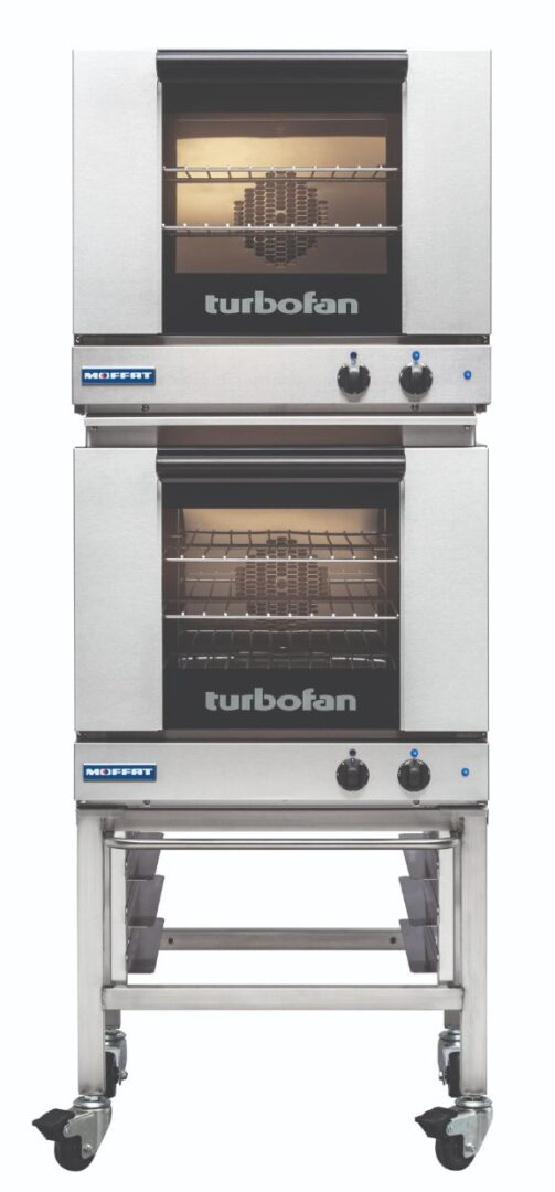 Turbofan E23M3/2 - Half Size Tray Manual Electric Convection Ovens Double Stacked