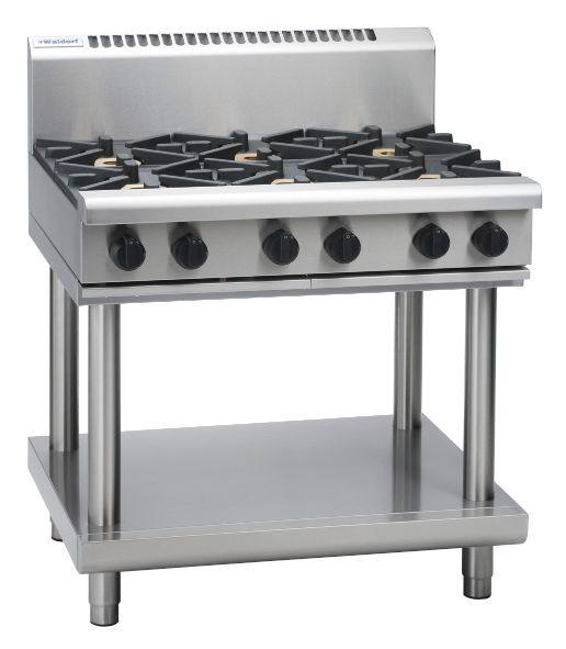 Waldorf 800 Series RNL8600G-LS – 900mm Gas Cooktop Low Back Version – Leg Stand