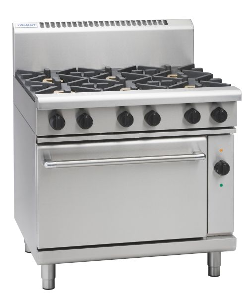 Waldorf 800 Series RNL8610GEC – 900mm Gas Range Electric Convection Oven Low Back Version