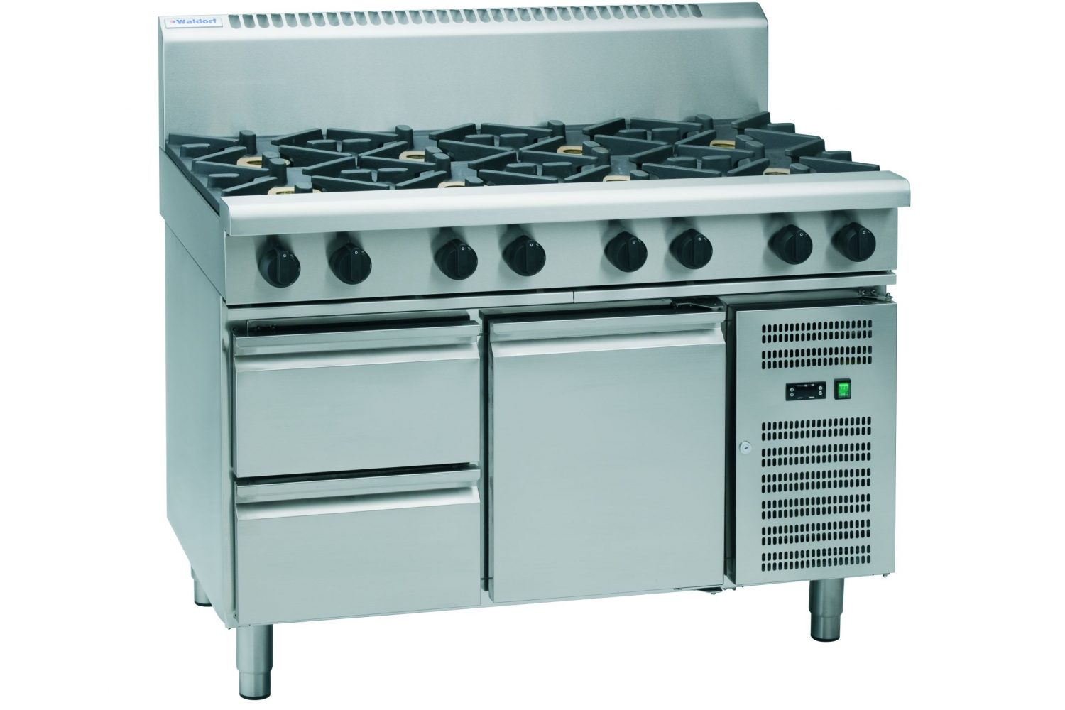 Waldorf 800 Series RNL8800G-RB – 1200mm Gas Cooktop Low Back Version – Refrigerated Base