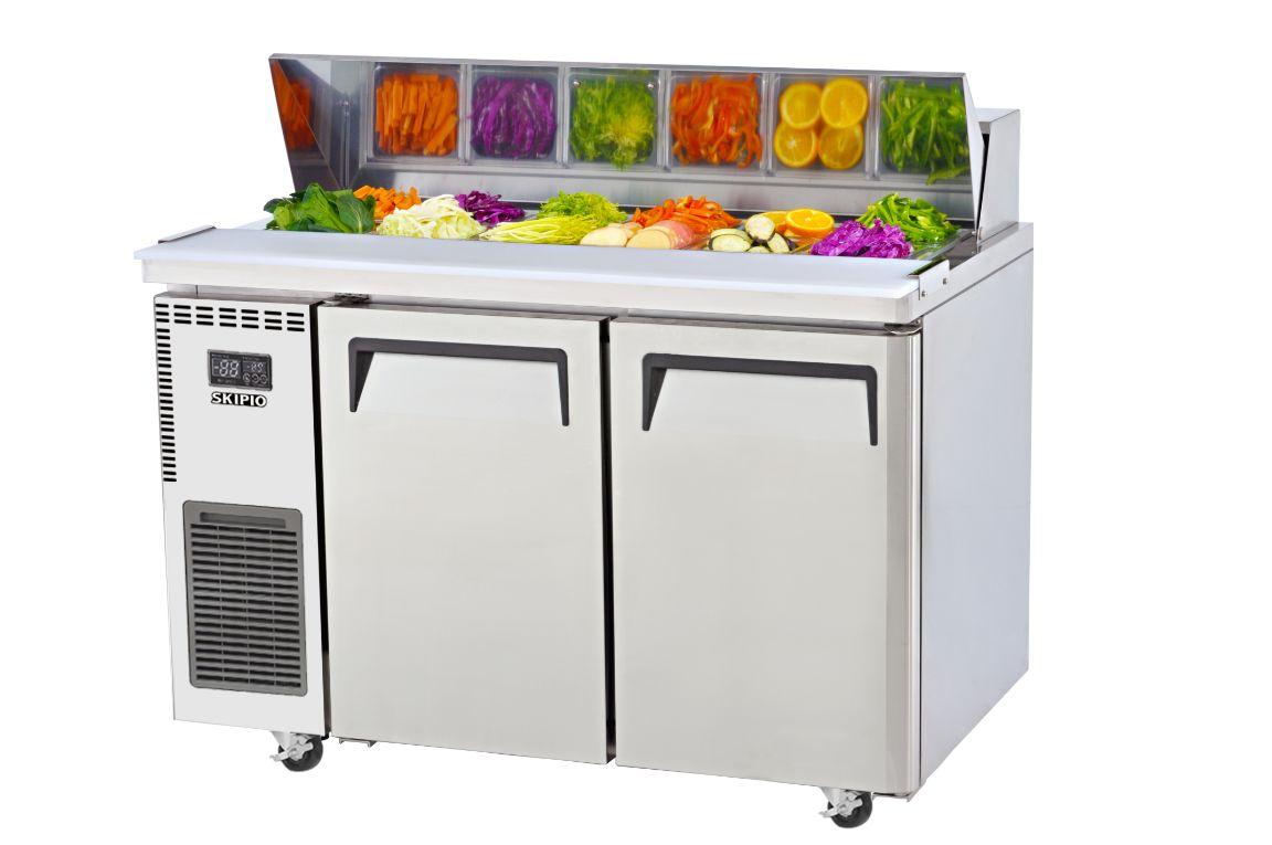 Skipio SHR12-2 Salad Side Prep Table(Hood Lid)  Refrigerator