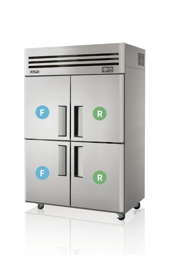 Skipio SRFT45-4 Reach-in Dual temp Refrigerator & Freezer