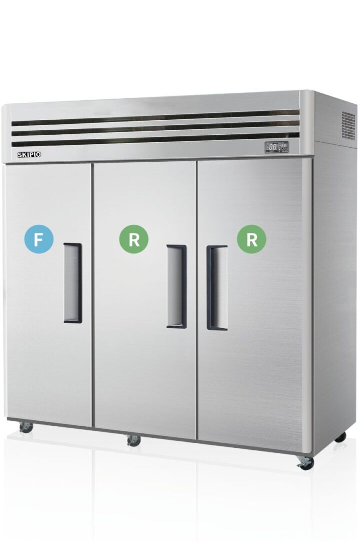 Skipio SRFT65-3 Reach-in Dual temp Refrigerator & Freezer