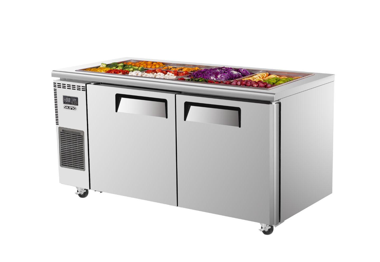 Skipio SSR15-2  Salad Side Prep Table(Buffet) Refrigerator