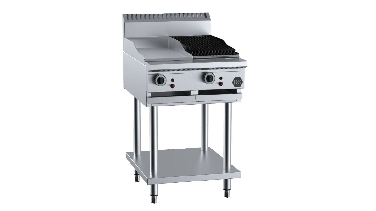 B+S BT-GRP3-CGR3 Combination 300mm Grill Plate & 300mm Char Grill