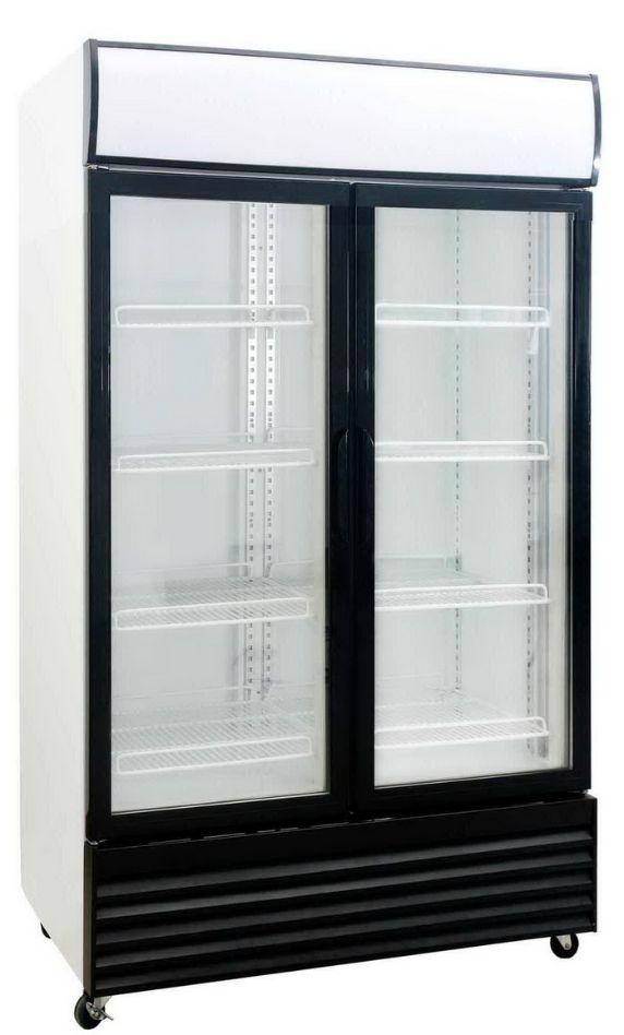 Saltas DFS1000 Double Glass Door Fridge