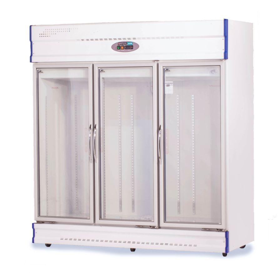 Anvil Aire GDJ1880 Three Glass Door Upright Display Fridge