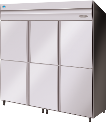Hoshizaki HFE-187MA-AHD Commercial Series 3 Door Upright Freezer Split 1/2 doors
