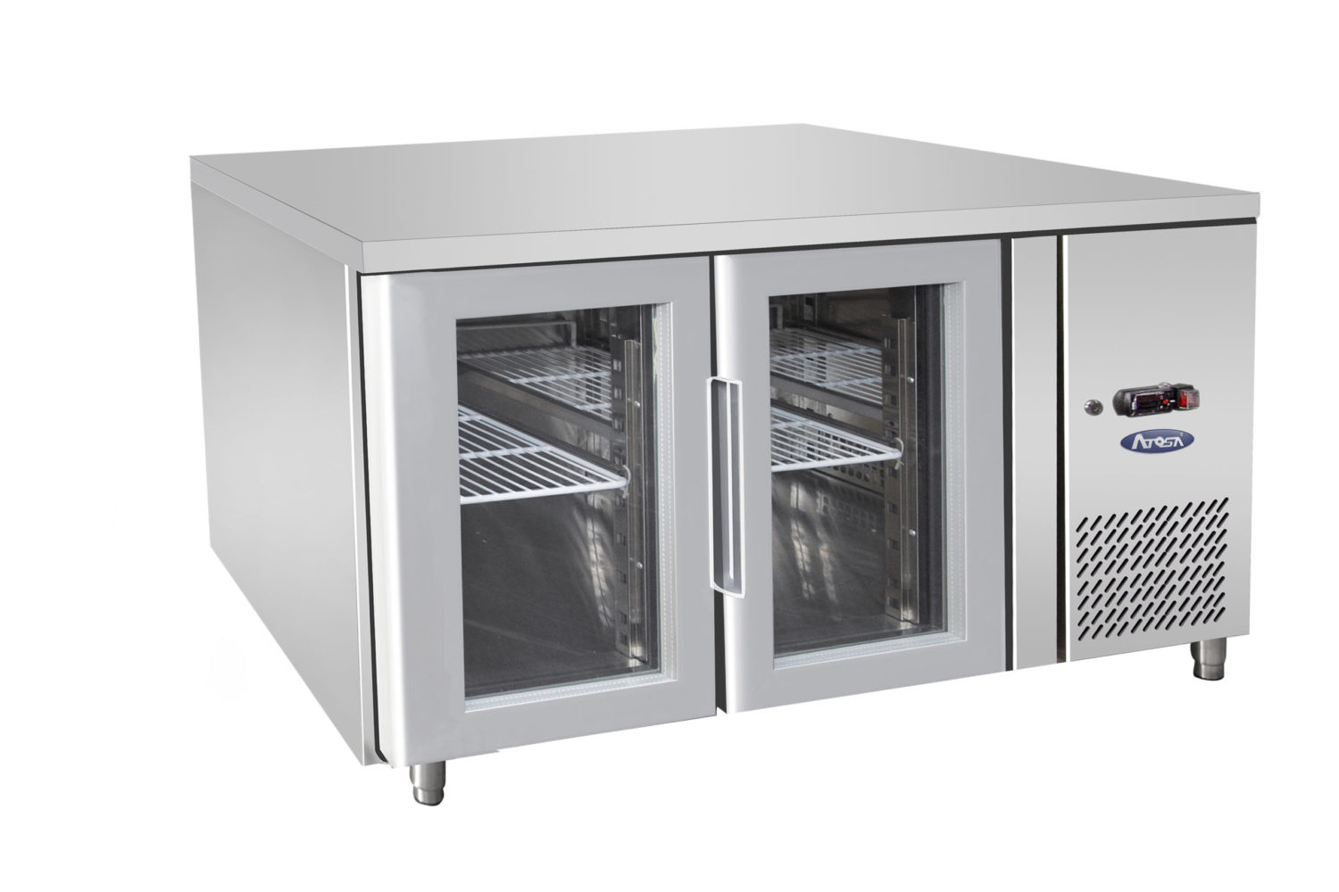 Atosa EPF3721 Glass 2 Door Cooling Table 1360 mm