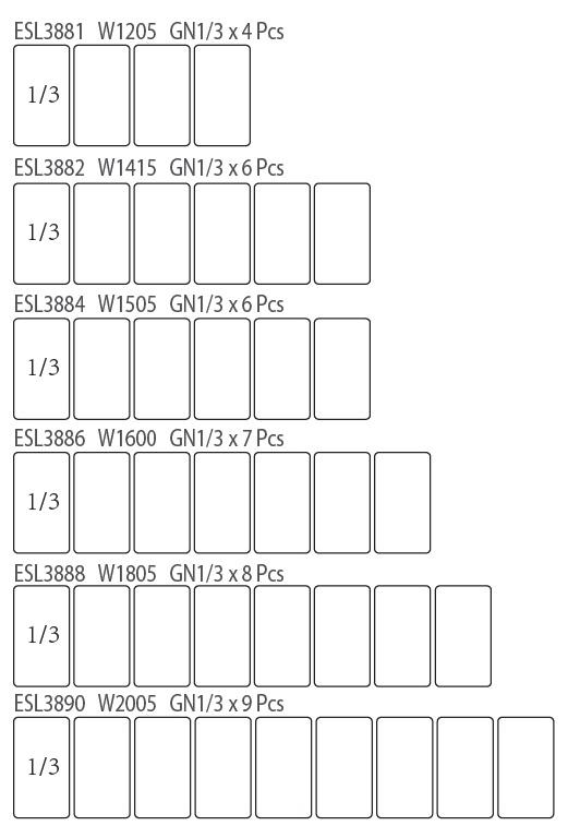 Atosa ESL3888 ESL Counter Top Salad Bar | BAC GN1/3 x 8