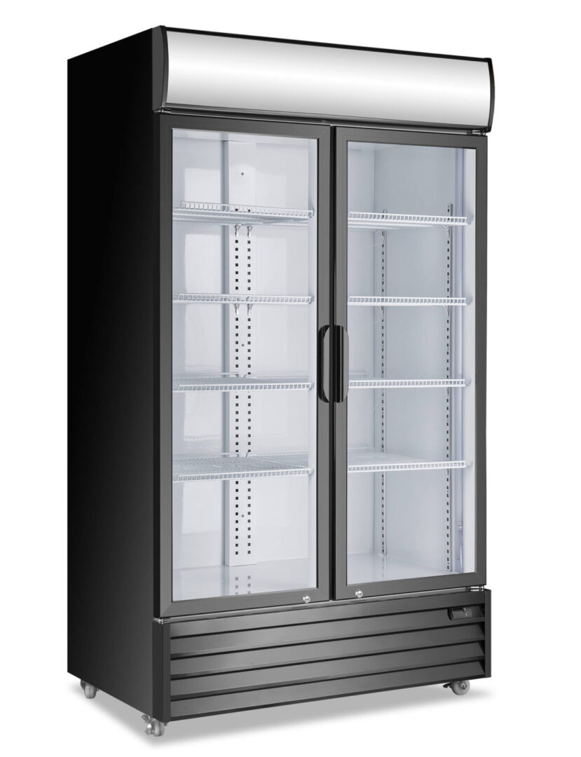Atosa P1000WB-A Double Glass Door Mounted Refrigerator