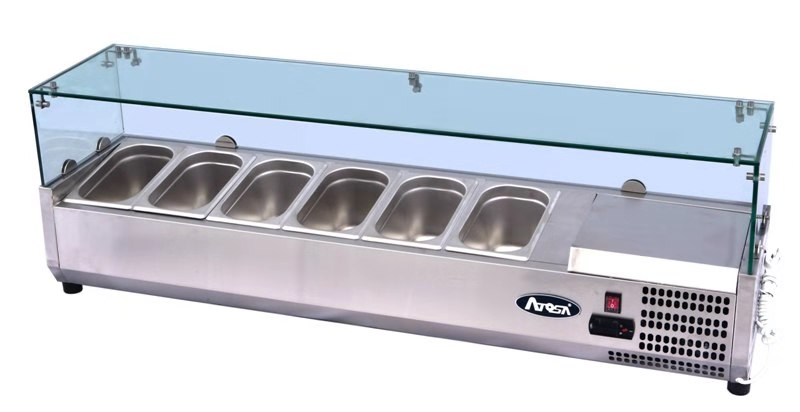 Atosa ESL3882 ESL Counter Top Salad Bar | BAC GN1/3 x 6