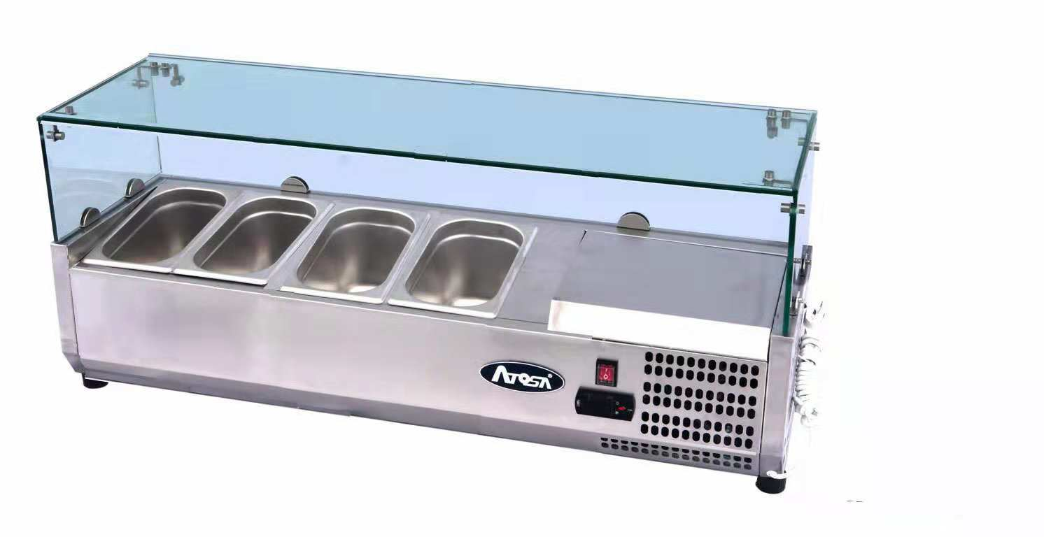 Atosa ESL3881 ESL Counter Top Salad Bar | BAC GN1/3 x 4