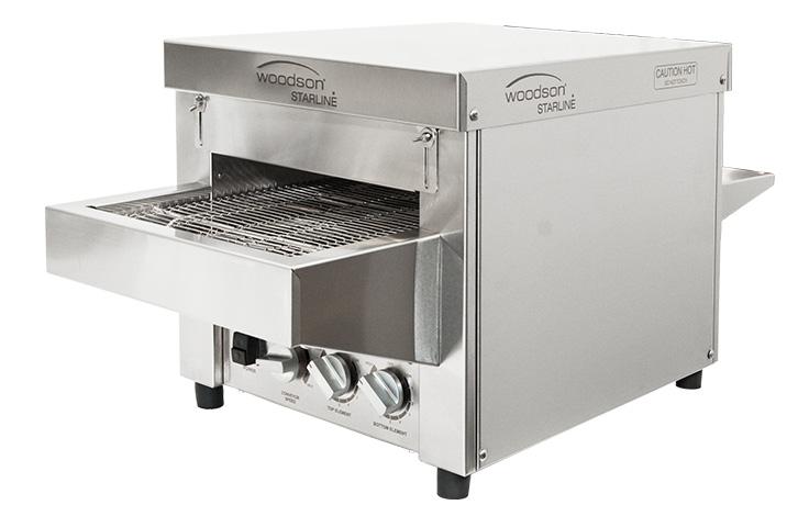 Woodson Starline W.CVS.S.15 15 Amp Metal Element Snackmaster Small Conveyor Oven