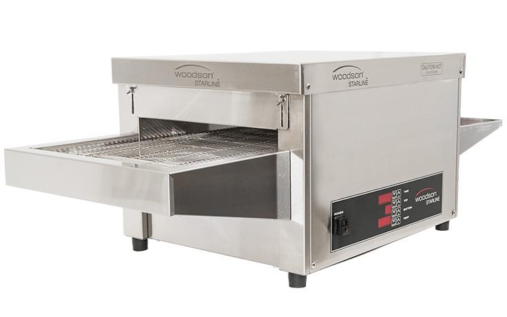 Woodson Starline W.CVS.M.25 25 Amp Metal Element Snackmaster Medium Conveyor Oven