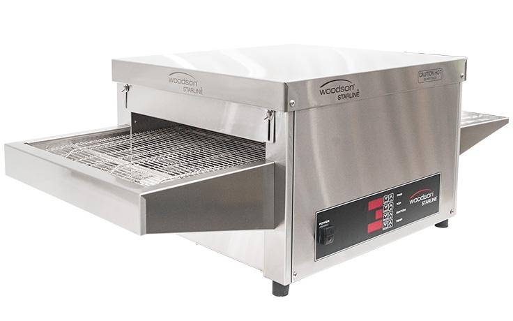 Woodson Starline W.CVS.L.30 30 Amp Metal Element Snackmaster Large Conveyor Oven