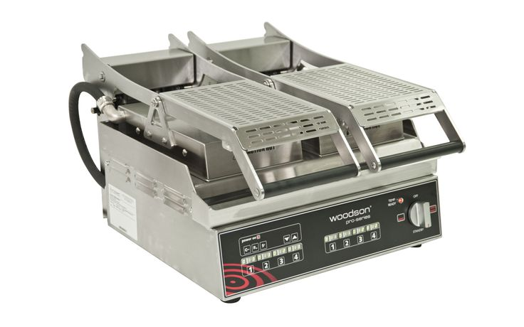 Woodson W.GPC62SC Pro Series Computer Controlled Twin Plate Contact Grill