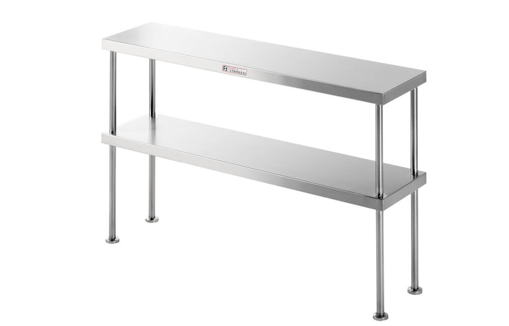 Simply Stainless SS13.1500 Double Bench Over Shelf