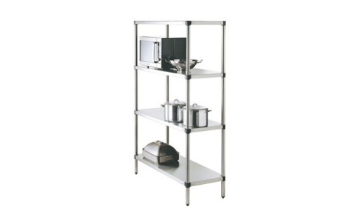 Simply Stainless SS17.1500SS Adjustable Standard Stainless Steel 4 Tier Shelving
